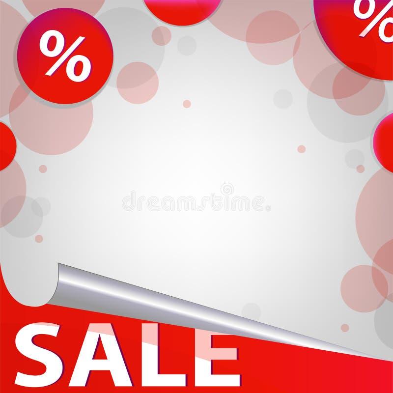 Manifesto rosso di vendita illustrazione di stock