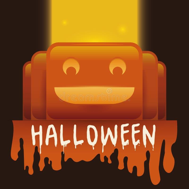 Manifesto sanguinoso tenero della zucca di Halloween illustrazione di stock