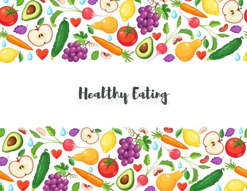 Manifesto sano di cibo royalty illustrazione gratis