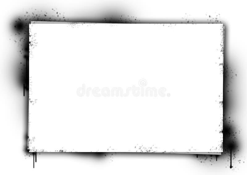 Manifesto sbavato di inchiostro illustrazione vettoriale