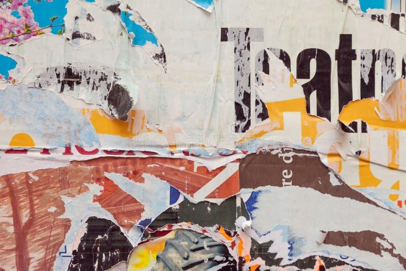 Manifesto strappato lerciume fotografie stock