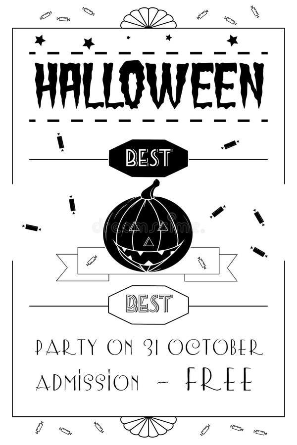 Manifesto tipografico di Halloween immagini stock libere da diritti