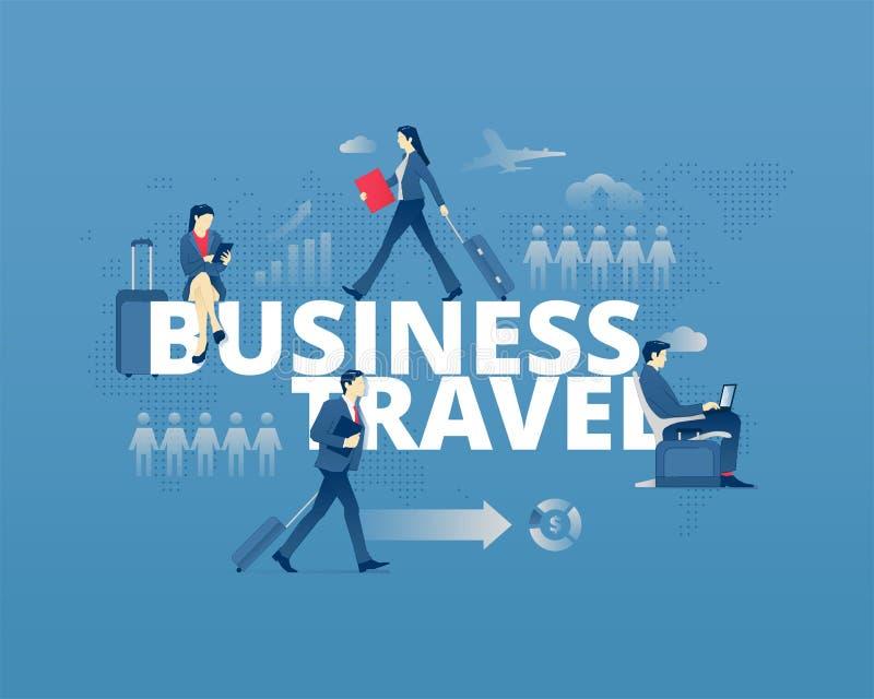 Manifesto tipografico di viaggio d'affari illustrazione vettoriale