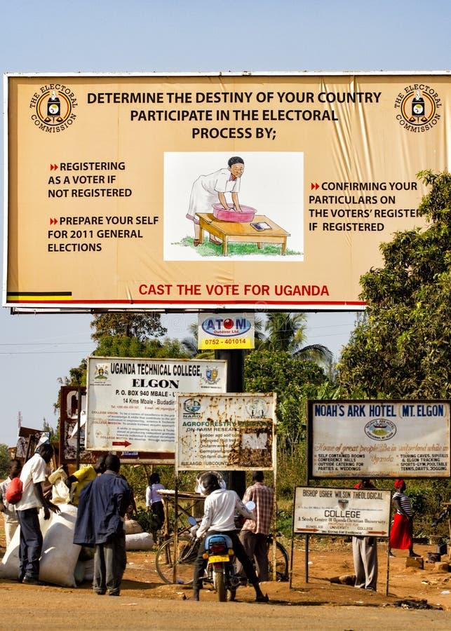 Manifesto ugandese che richiede 2011 elezione generale immagine stock libera da diritti