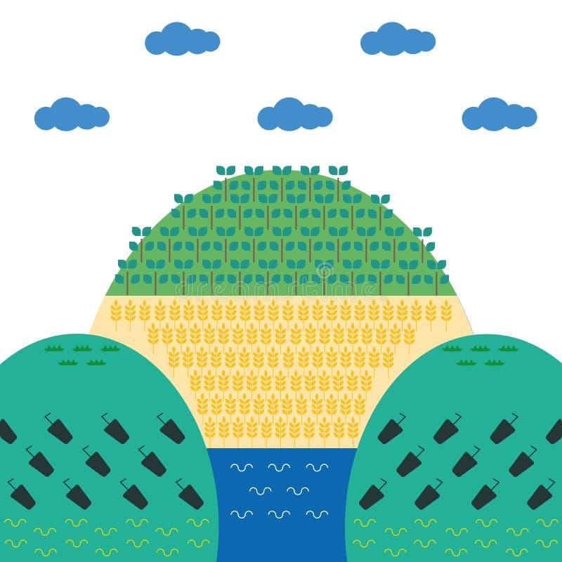 Manifesto verde di ecologia fotografia stock