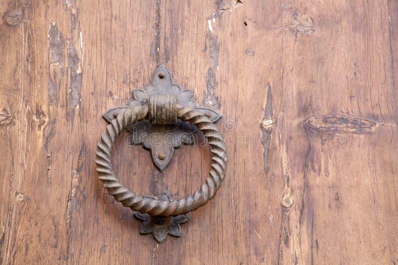 Maniglia di porta della chiesa, Pollenca, Maiorca immagini stock libere da diritti