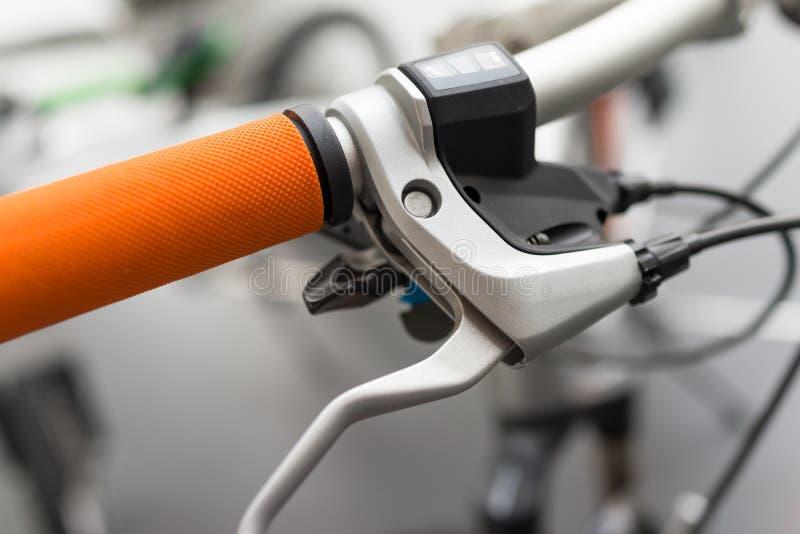 Manija de la bicicleta imagen de archivo