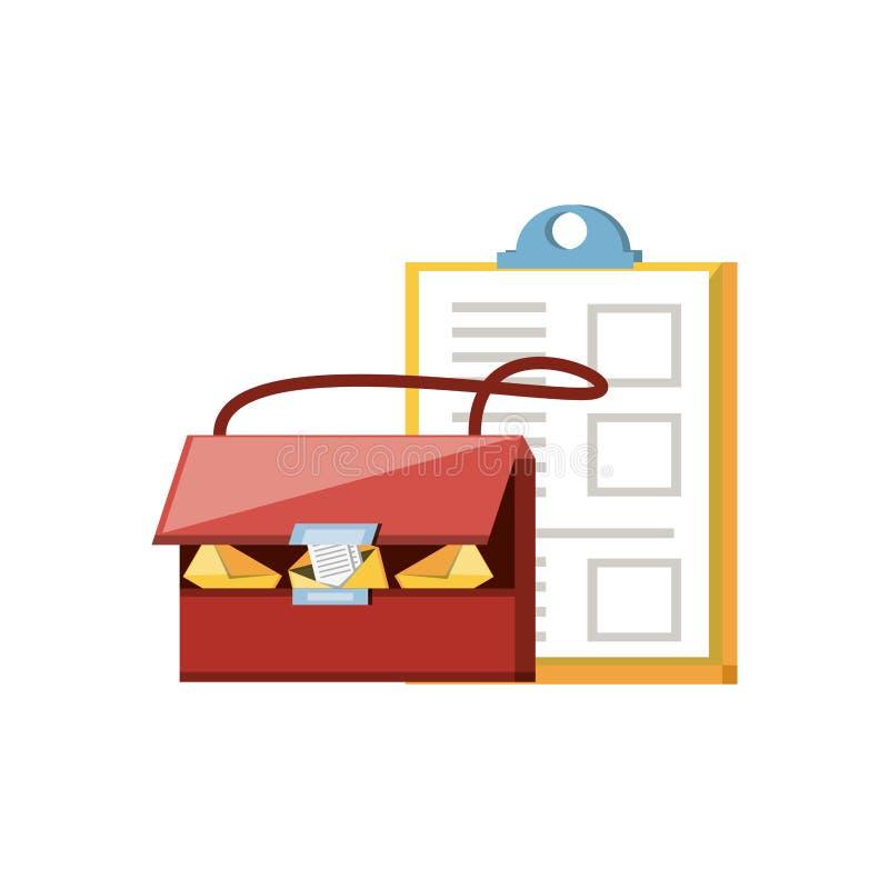 Manija del bolso del poste con el tablero libre illustration