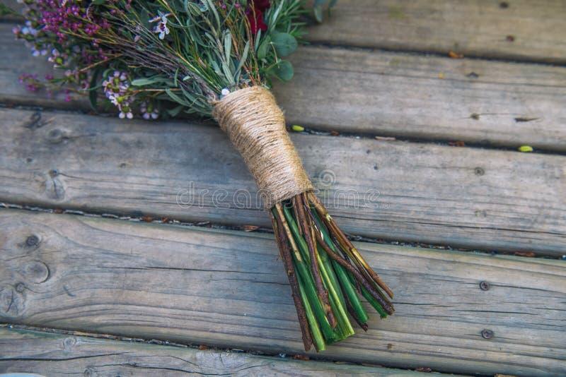 Manija elegante del arreglo del ramo de la flor del vintage foto de archivo