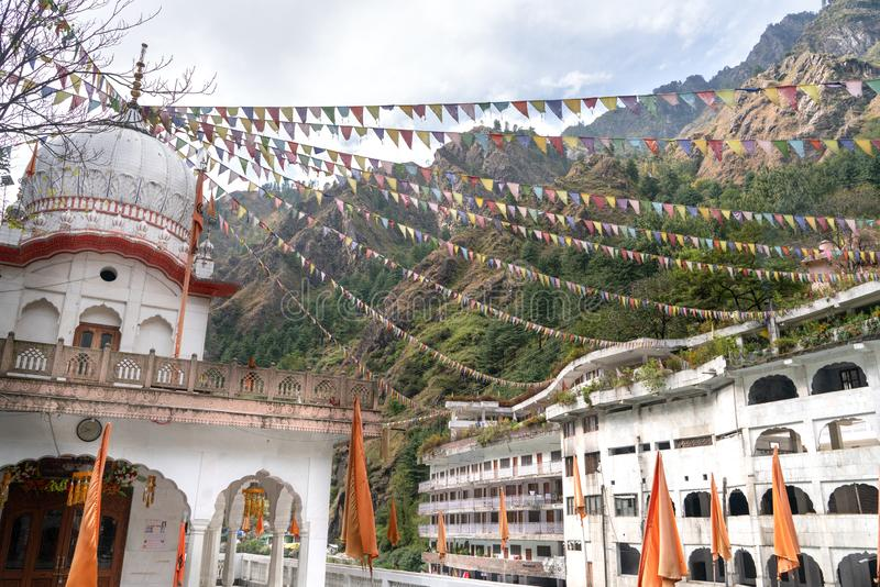 Manikaran/印度20 10 2018年:Gurudwara Shri Manikaran萨希卜看法  库存照片