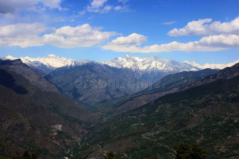 Manikaranvallei in himachal pradesh, India royalty-vrije stock afbeeldingen