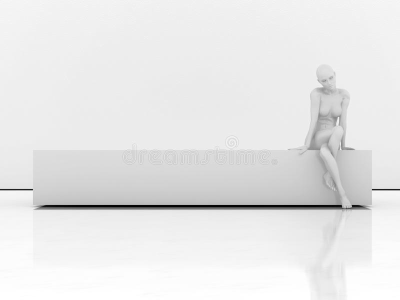 Download Manikin on the bench stock illustration. Image of lying - 17328513