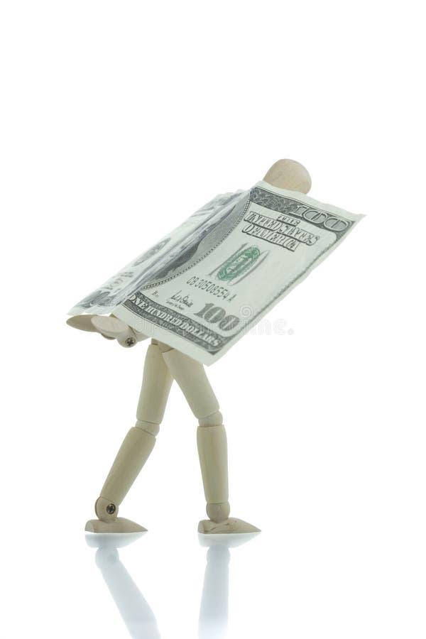 Download Manikin Carrying Hundred Dollars Bill Stock Photo - Image: 4267160