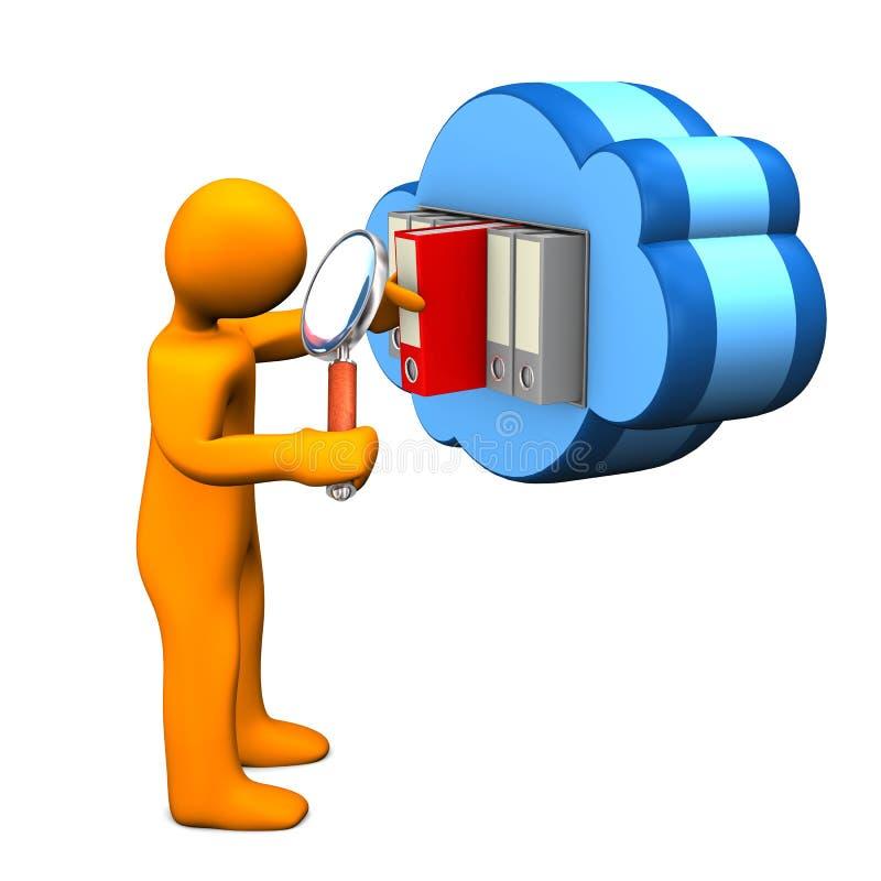 Download Manikin Cloud Loupe Stock Photography - Image: 30964592