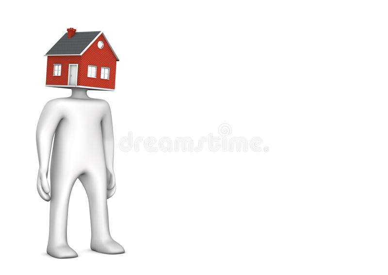 Manikin domu głowa royalty ilustracja