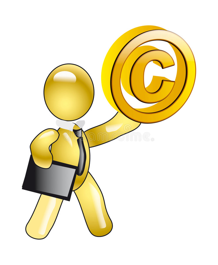 Download A Manikin Holds Character Of Copyright Stock Illustration - Image: 7974746