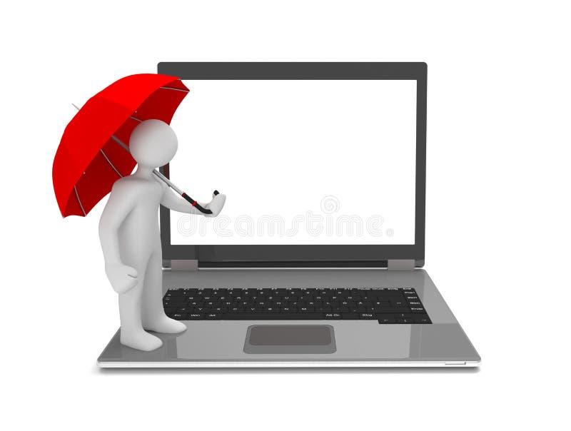 Manikin parasola notatnik ilustracji