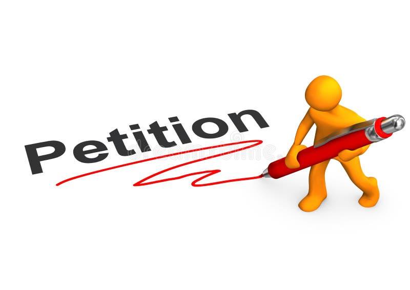 Manikin Petition royalty free illustration