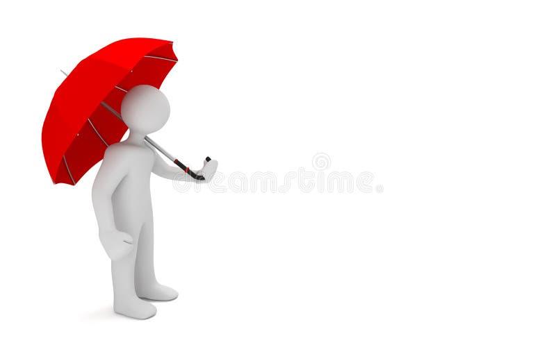 Manikin rewolucjonistki parasol royalty ilustracja