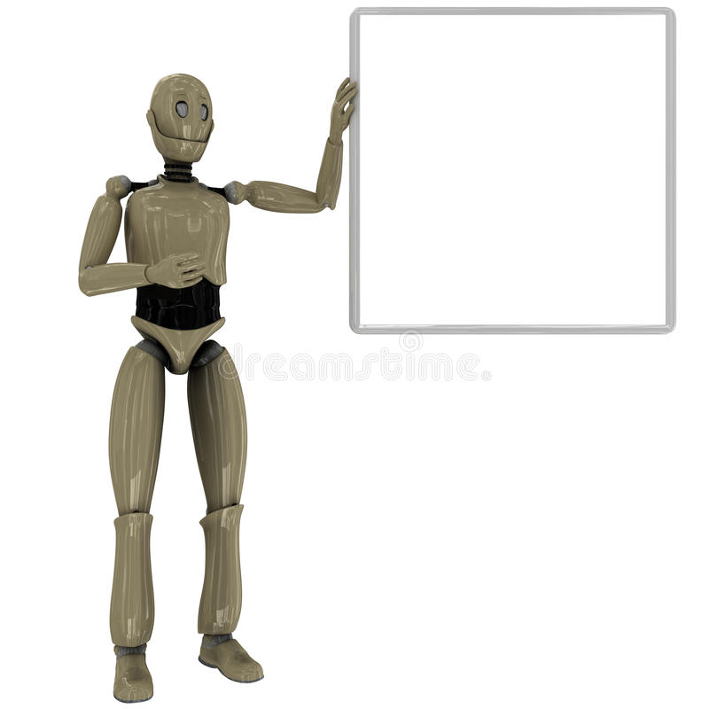 Download Manikin Robot And Whiteboard Stock Illustration - Illustration of robot, silver: 19809709