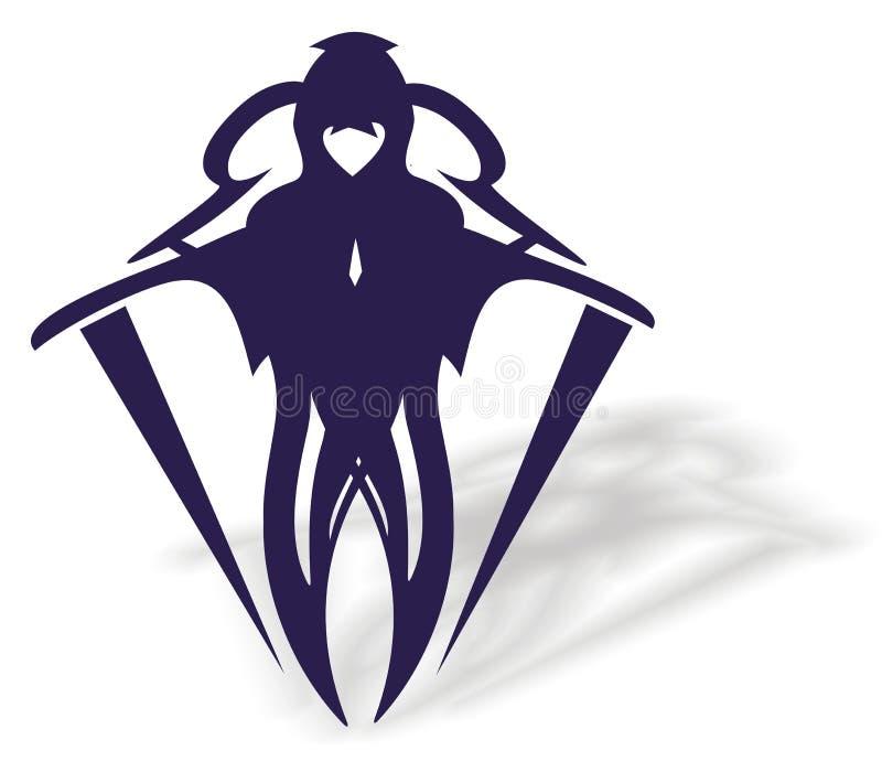 Manikone mit Schatten vektor abbildung