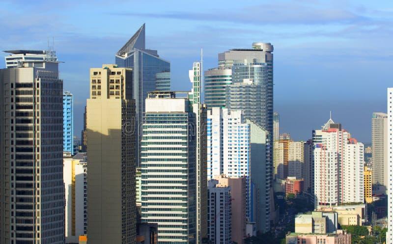 Manila é a capital do centro da cidade de Filipinas imagens de stock
