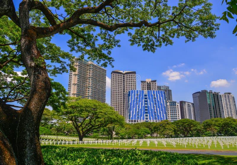 Manila amerikansk kyrkogård och minnesmärke royaltyfri bild