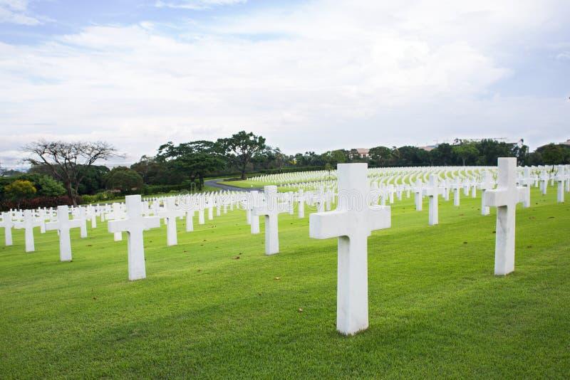 Manila amerikansk kyrkogård och minnesmärke royaltyfria foton