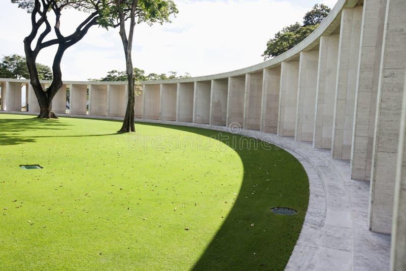 Manila amerikansk kyrkogård och minnesmärke, Manila, Filippinerna arkivbild