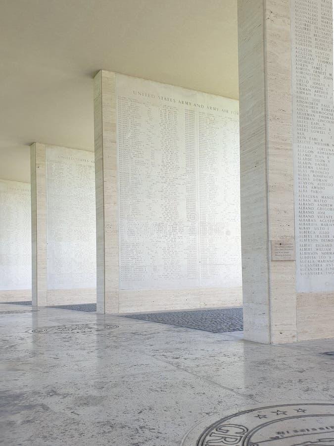 Manila amerikansk kyrkog?rd och minnesm?rke royaltyfria bilder
