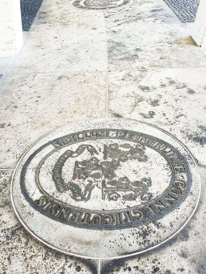 Manila amerikansk kyrkog?rd och minnesm?rke arkivbild