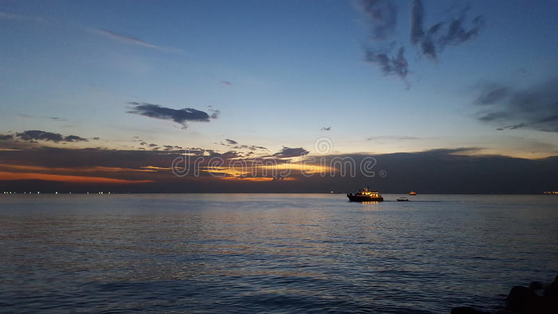 Manila Bay Sunset. View from Mall of Asia stock images