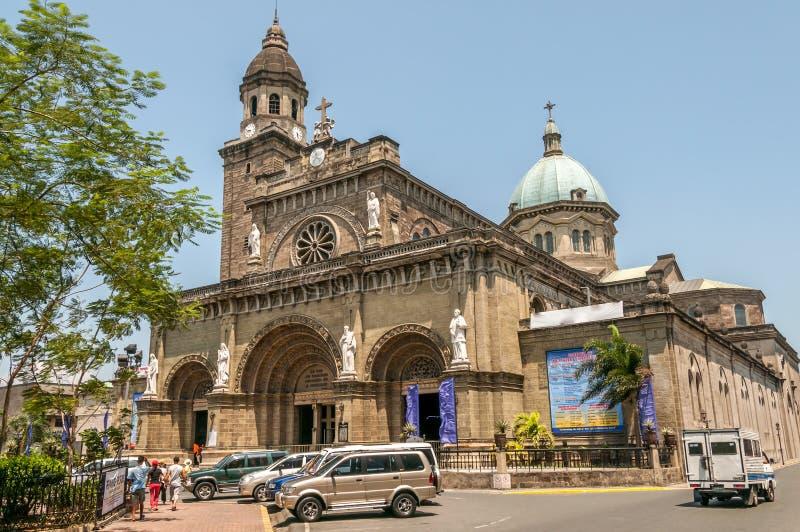 Manila Cathedral-Basilica stock image