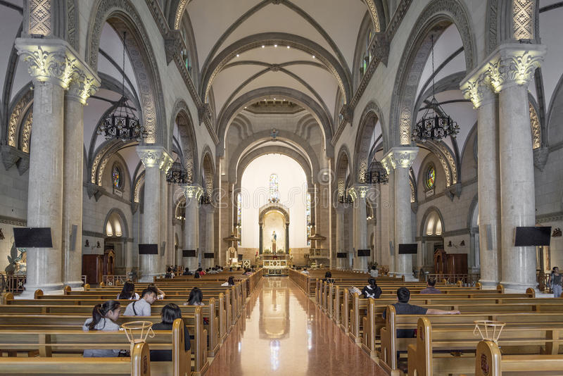 Manila cathedral interior in philippines. Manila catholic cathedral interior in philippines stock images
