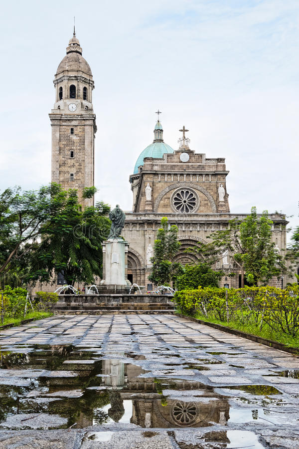 The Manila Cathedral, Philippines stock photo