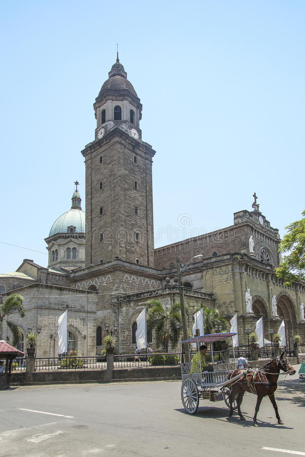 Manila cathedral in philippnes stock images