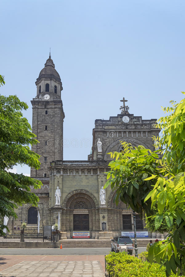 Manila cathedral in philippnes royalty free stock photo