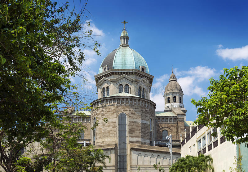 Manila cathedral in phillipines royalty free stock images