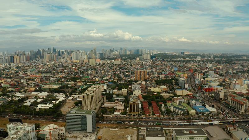 Manila, the capital of the Philippines aerial view. stock image