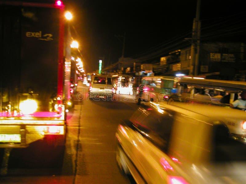 Manila em Noite imagem de stock royalty free