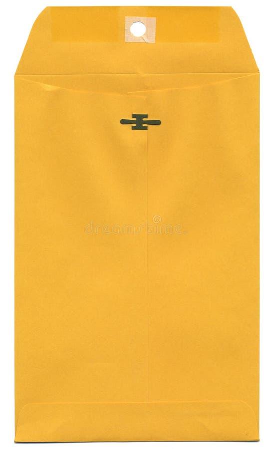 Manila Envelope. A manila envelope isolated on a white background stock image