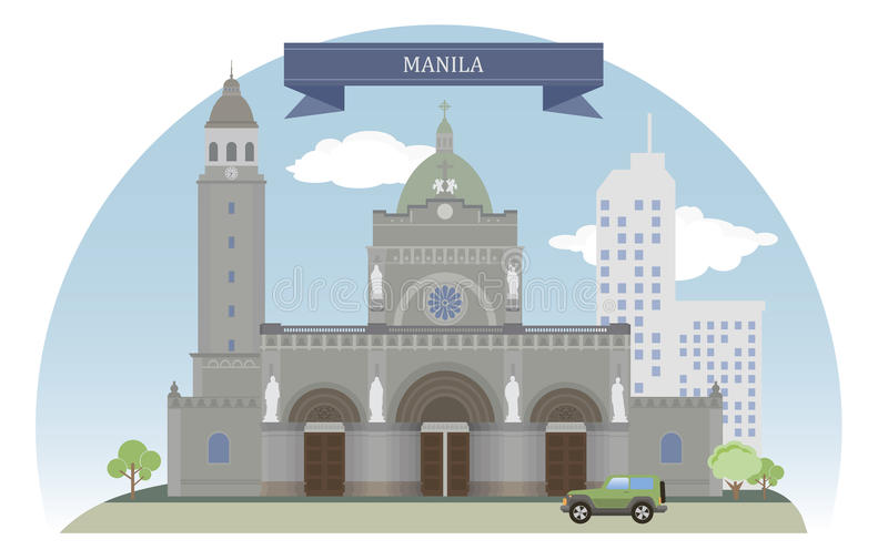Manila Filippinerna royaltyfri illustrationer