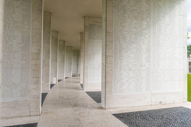 MANILA FILIPPINERNA - FEBRUARI 03, 2018: Den amerikanska stridmonumentkommissionen Manila amerikansk kyrkogård och minnesmärke La royaltyfria foton