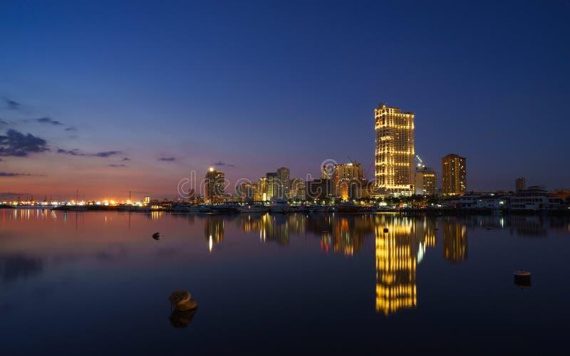 Manila harbor square stock image