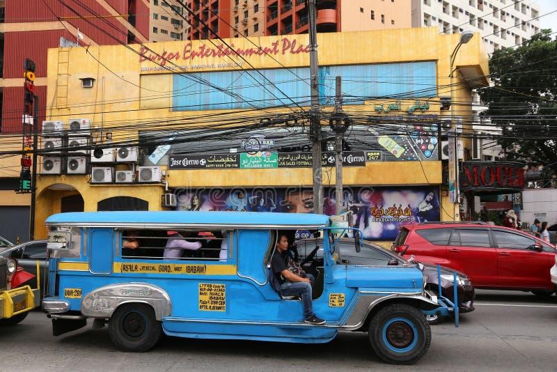 Manila Jeepney imagens de stock
