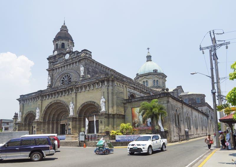 Manila-Kathedrale in den philippnes lizenzfreies stockbild