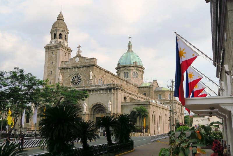 Manila-Kathedrale herein Intramuros, Philippinen lizenzfreie stockfotografie