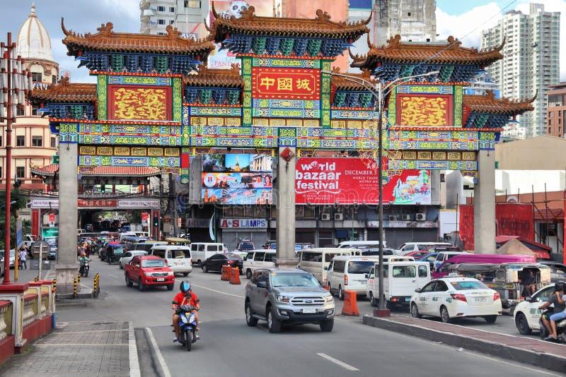 Manila kineskvarter, Filippinerna arkivbilder