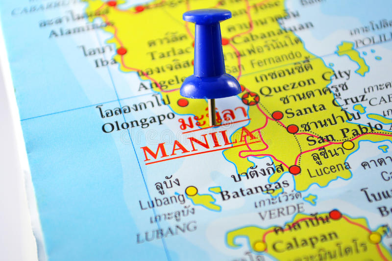 Manila map stock photos