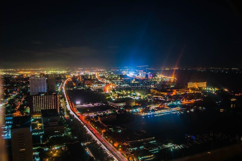Manila at Night. Overlooking Manila at night facing manila Bay stock image